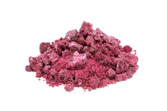 Red salt crystals Royalty Free Stock Photo