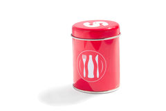Red salt shaker Stock Photography