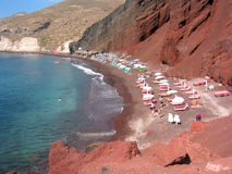 Red Sand Beach. A red sand beach in Santorini, Greece Royalty Free Stock Photo