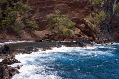 Red Sand Beach Maui Royalty Free Stock Photos