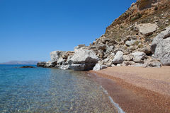 Red sand beach, Rhodes Royalty Free Stock Photo