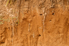 Red Sand Crumbling Stock Photo