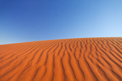 Red sand dune on a clear day, Northern Territory, Australia Royalty Free Stock Images