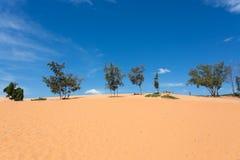 Red sand dune desert in Mui Ne Stock Images