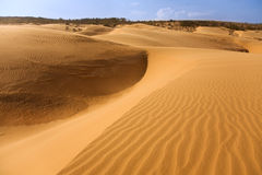 Red sand dune in Mui ne Royalty Free Stock Photos