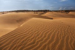 Red sand dune in Mui ne Stock Image
