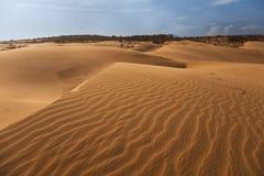 Red sand dune in Mui ne Stock Image