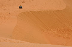 Red Sand Dunes in Mui Ne, Vietnam Royalty Free Stock Photo