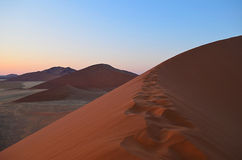 Red sand dunes Stock Photos