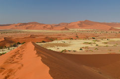 Red sand dunes Stock Photo