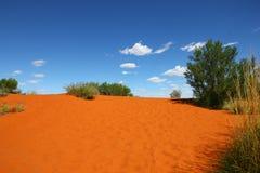 Red sand hill (Australia). Red sand hill in Australian desert Stock Image