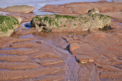 Red sand low tide Stock Photo
