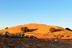 Red sand mount Royalty Free Stock Photo
