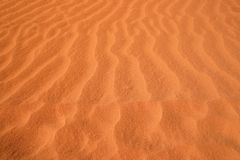 Red sand pattern. Natural pattern in red sand. Sandy grounds in Australia. Rainbow valley, Southern Northern Territory Royalty Free Stock Photos