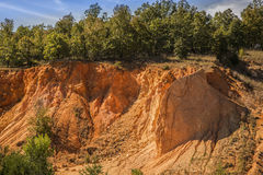 Red sand-rock mine Stock Photography