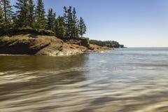 Red Sand. Saint Martins New Brunswick beach Royalty Free Stock Image