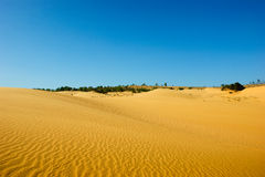 Red sand and sky. Royalty Free Stock Photos