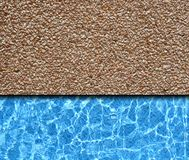 Red sand stone with pool Stock Images