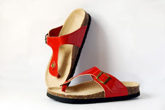 Red sandal. The isolated of red sandal stock image