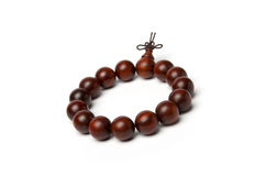 Red sandalwood beads Stock Images