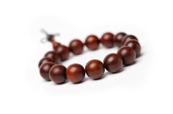 Red sandalwood beads Stock Photography