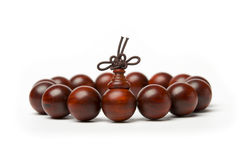 Red sandalwood beads Royalty Free Stock Photography