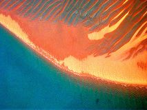 Red sands. Beach, Fraser Island, Australia royalty free stock photo