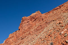 Red Sandstone with Blue Sky Stock Image