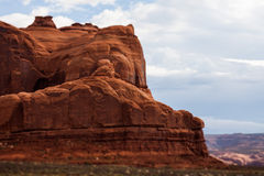 Red sandstone butte Royalty Free Stock Photos