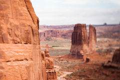 Red sandstone butte Stock Photos