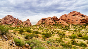 The red sandstone buttes of Papago Park near Phoenix Arizona Royalty Free Stock Photo