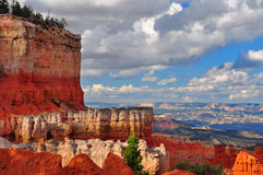 Red Sandstone Canyon cliffs at Bryce Canyon. Stock Images