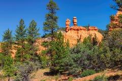 Red Sandstone Canyon cliffs at Bryce Canyon national park, Utah royalty free stock photo