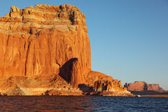 Red sandstone cliffs Royalty Free Stock Images