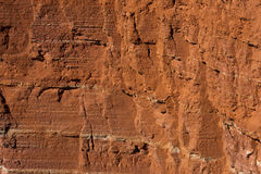 Red sandstone cliffs Stock Photography