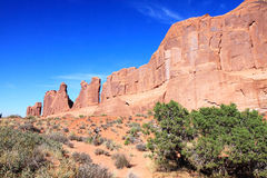 Red Sandstone Formations Stock Photography