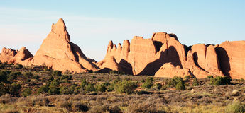 Red Sandstone Formations Stock Images