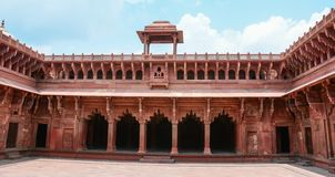 Agra Fort in Agra, India stock photography