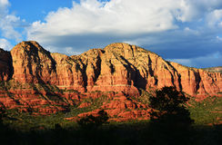 Red Sandstone Hills of Sedona Arizona. Beautiful Red Sandstone formations of Sedona, Arizona Royalty Free Stock Image