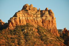 Red sandstone mountains and valley in U.S. Southwest in natural light stock photo