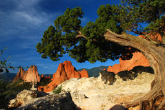 Red sandstone rock formations Stock Image