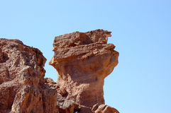 Red sandstone rocks in Arava desert. Royalty Free Stock Photography