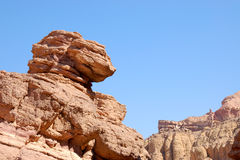 Red sandstone rocks in Arava desert. Royalty Free Stock Photo