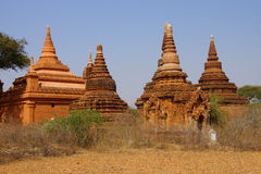 Red Sandstone stupas and temple Stock Photos