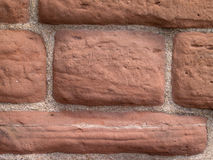 Red sandstone wall detail Royalty Free Stock Images