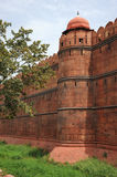 Red sandstone walls, Red Fort. New Delhi, India. Stock Images