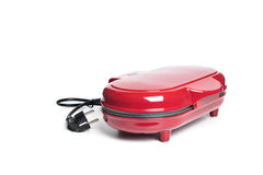 Red sandwich maker on white background Stock Image