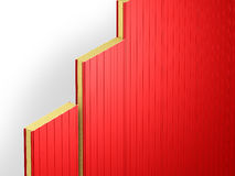 Red sandwich panels. Visualization of connection of red sandwich panels royalty free illustration