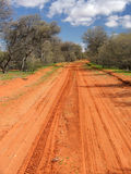 Red Sandy Track Royalty Free Stock Photography