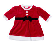 Red santa baby dress Royalty Free Stock Photo